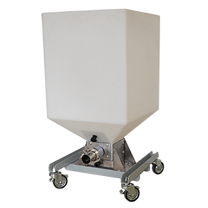 Coffee destoner bin